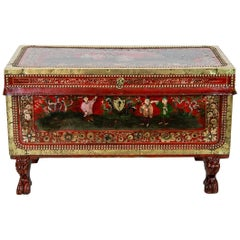 Chinese Chinoiserie Trunk