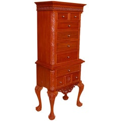 Chinese Chippendale Chest on Stand of Drawers Tallboy