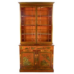 Chinese Chippendale Chinoiserie Cupboard