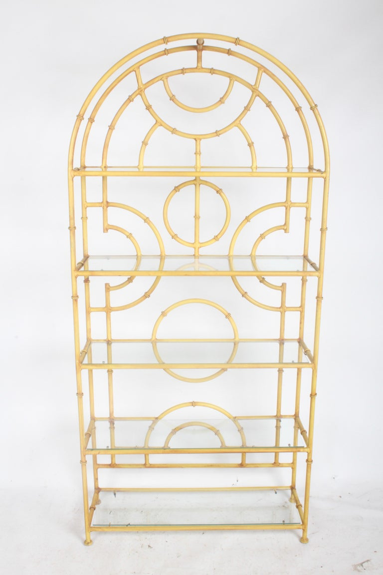 Late 20th Century Chinese Chippendale Faux Bamboo Étagère For Sale