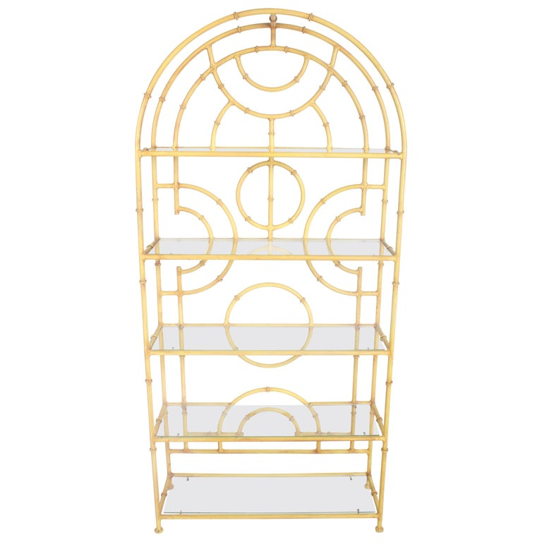 Chinese Chippendale Faux Bamboo Étagère For Sale