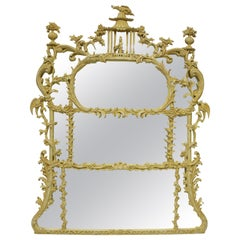 Chinese Chippendale Revival Overmantel Mirror