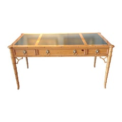 Chinese Chippendale Style Desk by Baker