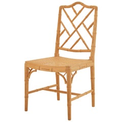 Chinese Chippendale-Style Faux Bamboo Side Chair