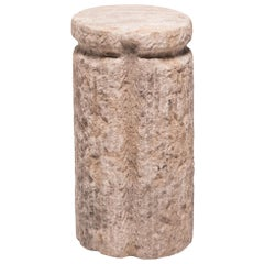 Chinese Cinched Mill Stone Pedestal