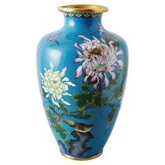 Chinese Cloisonné Chrysanthemum Flower Vase