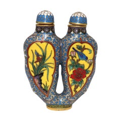 Chinese Cloisonné Double Chamber Snuff Bottle