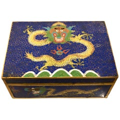 Chinese Cloisonné Dragon Jewelry Box