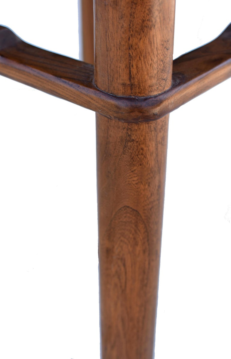 Chinese Coffee Table Side Table with Antique Longevity Screen For Sale 7