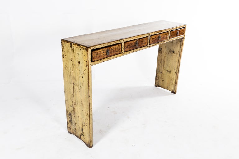 Chinese Console Table with Four Drawers For Sale 3