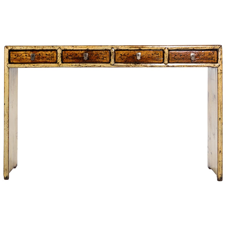 Chinese Console Table with Four Drawers For Sale