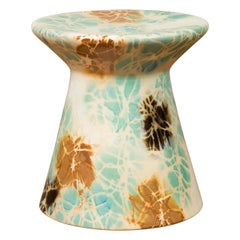 Chinese Contemporary Artisan Hand Painted and Glazed Garden Seat