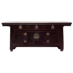 Chinese Crackled Lacquer Three-Drawer Coffer, circa 1850