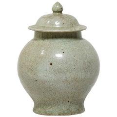 Chinese Crazed Celadon Ginger Jar