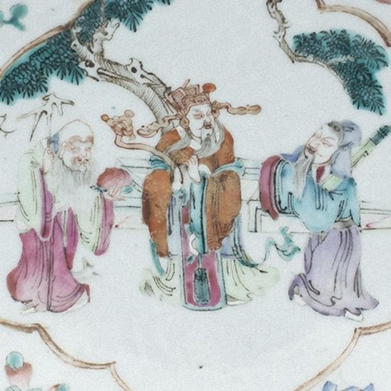 Chinese Daoguang Oval Tray, China, Early 20th Century In Good Condition For Sale In Roma, IT