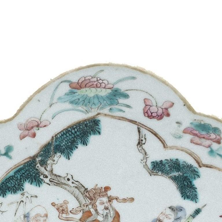 Porcelain Chinese Daoguang Oval Tray, China, Early 20th Century For Sale