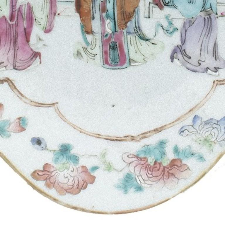 Chinese Daoguang Oval Tray, China, Early 20th Century For Sale 1