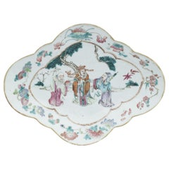 Chinese Daoguang Oval Tray, China, Early 20th Century