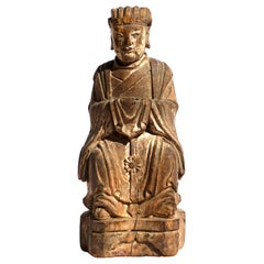 Chinese Daoist Buddha Figure Late Ming Early Qing Dynasty