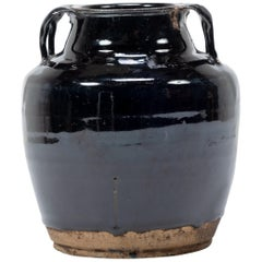 Chinese Dark Glazed Soy Vessel, circa 1900