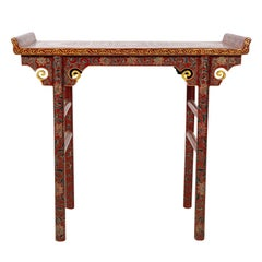 Chinese Decorated Console Table