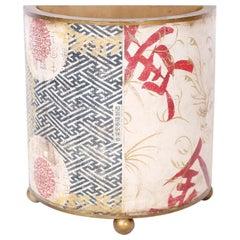 Chinese Demilune Wastepaper Basket