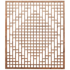 Chinese Diamond Lattice Window Panel, circa 1900