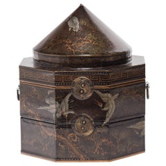 Chinese Double Longevity Hat Box, Early 20th Century