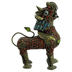 Chinese Dragon Fo Dog Perfume Bottle, Vintage