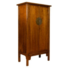 Chinese Early 20th Century Elmwood Noodle Cabinet with Retrofitted Interior