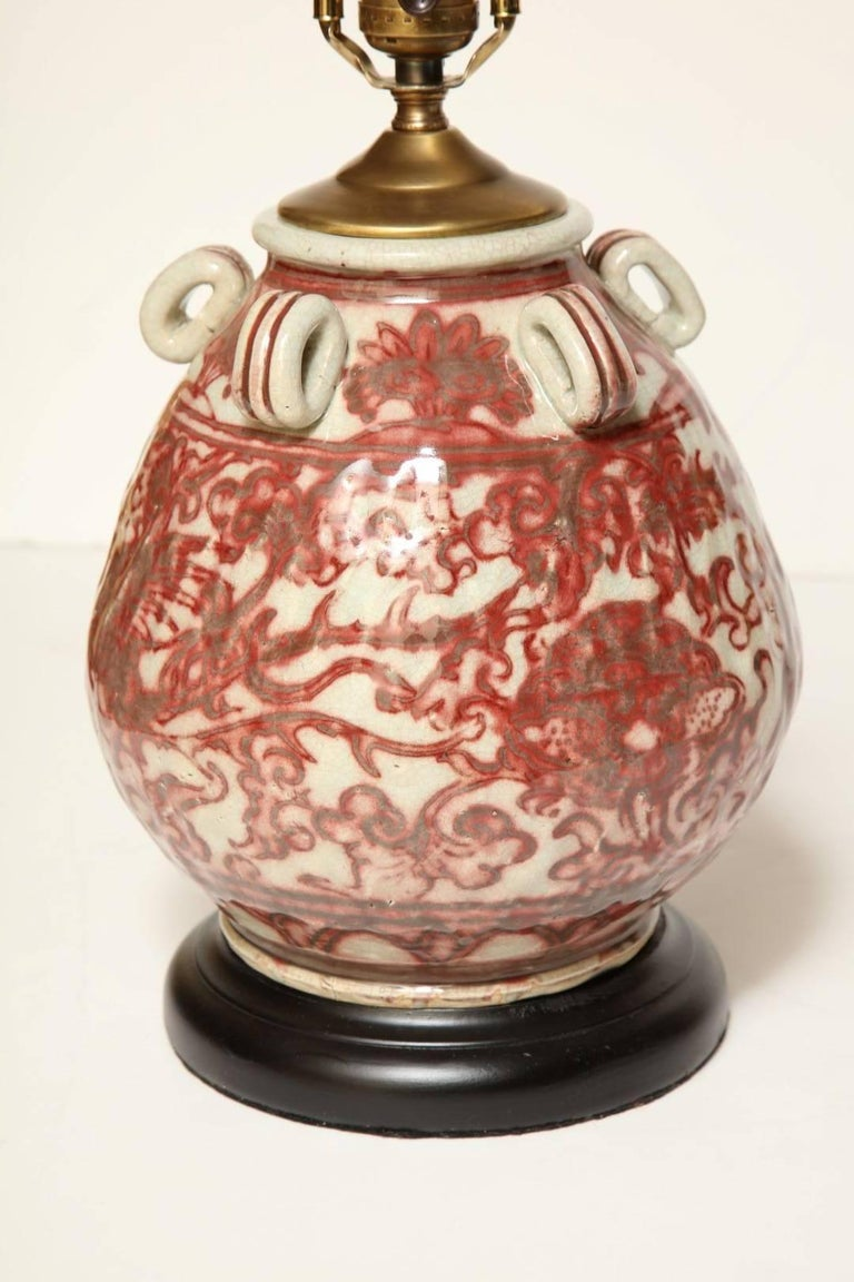 Primitive Chinese Earthenware Vessel Fitted as a Lamp For Sale