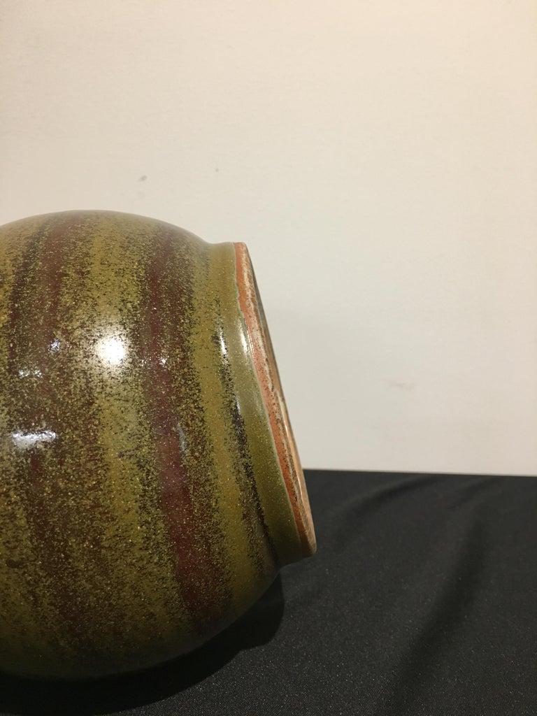 Chinese Eel Skin Glazed Stick Neck Vase, Qing Dynasty, 18th Century, China For Sale 1