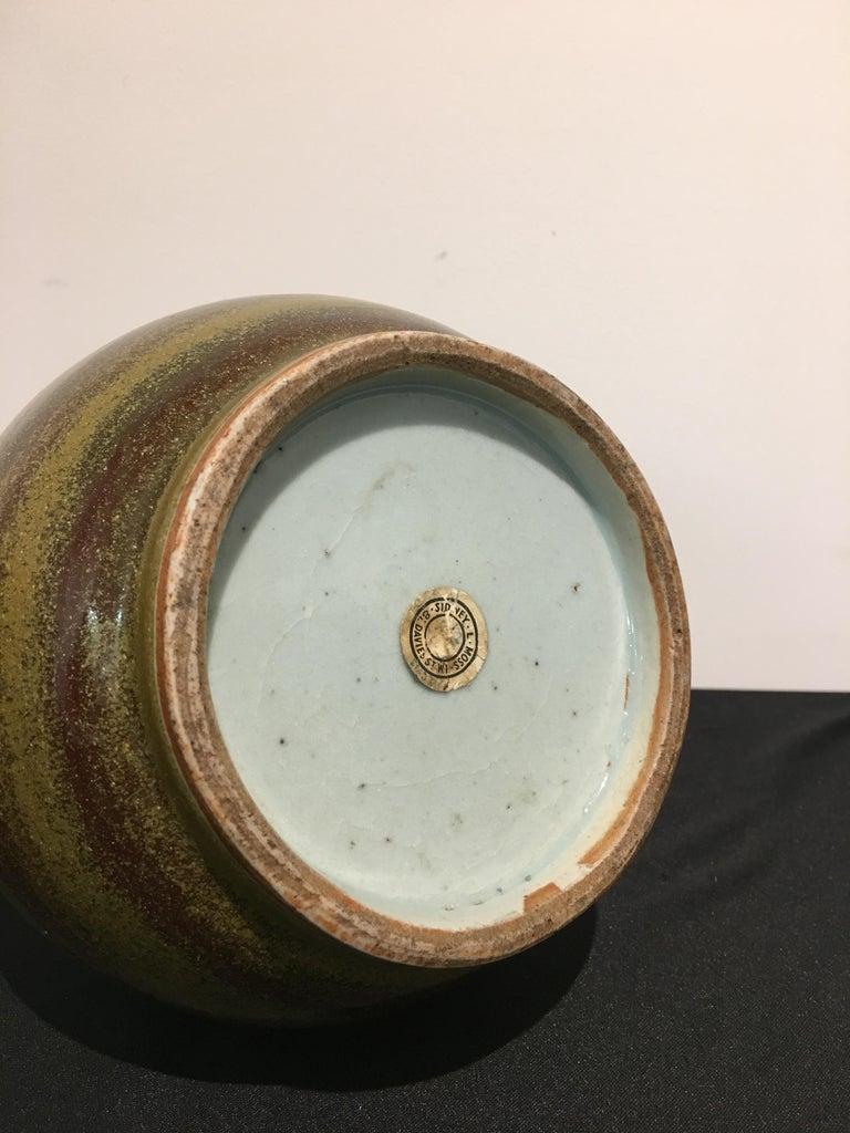 Chinese Eel Skin Glazed Stick Neck Vase, Qing Dynasty, 18th Century, China For Sale 2