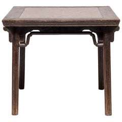 Chinese Eight Immortals Square Table with Stone Top, circa 1800