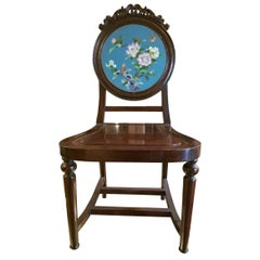 Chinese Enameled Back Hall Chair