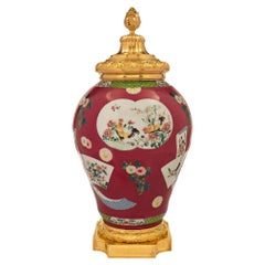 Chinese Export 19th Century Porcelain Urn