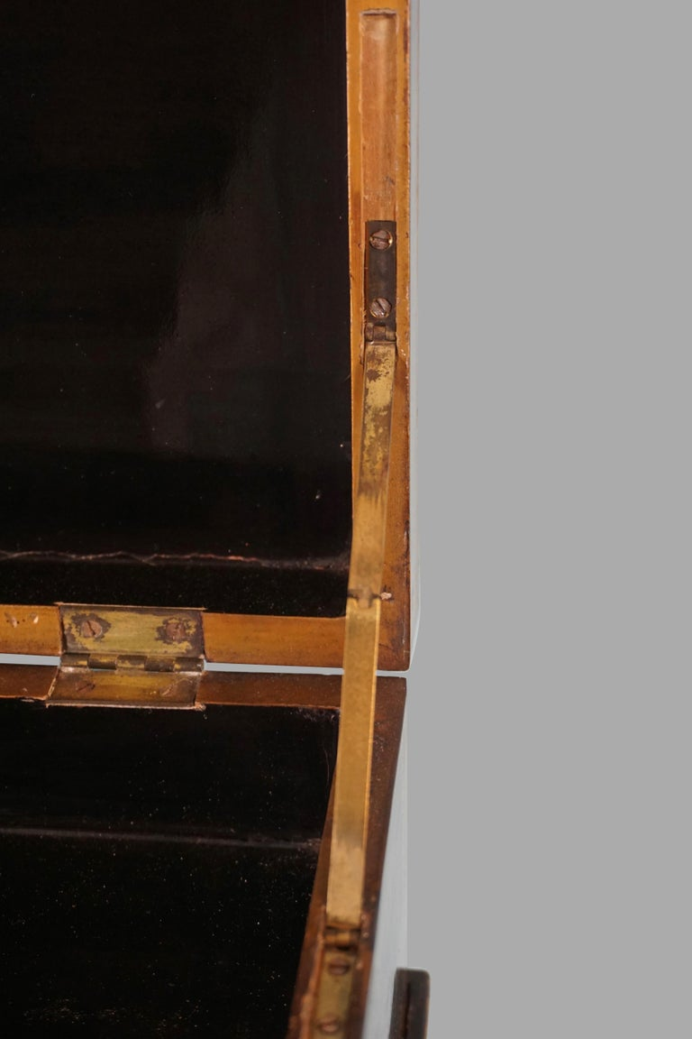 Chinese Export Black Lacquer Writing or Work Box on Later Custom Stand 8