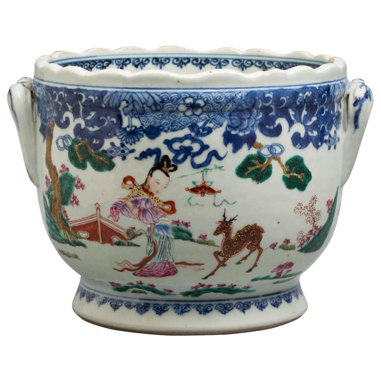 18th Century Chinese Export Cachepot, circa 1775 For Sale