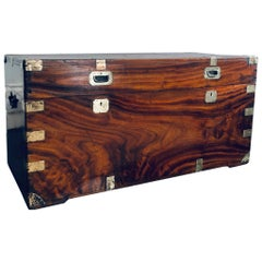 Chinese Export Camphorwood and Brass Trunk by You On Hongkon