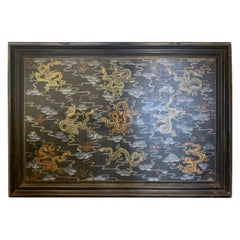 Chinese Export Chinoiserie Original Oil Painting on Board