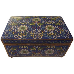 Chinese Export Cloisonne Box Stamped China