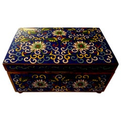 Chinese Export Cloisonné Box, Stamped China