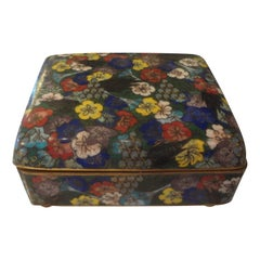 Chinese Export Cloisonné Box Stamped China