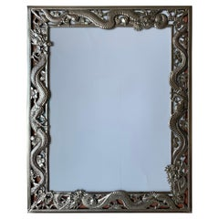 Chinese Export Dragon Motif Silver Picture Frame