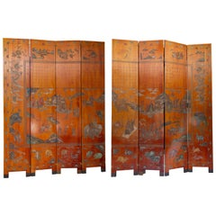 Chinese Export Eight Panel Screen