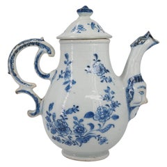 Chinese Export Ewer with Mask, After a Meissen Original, C.1745