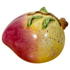 Chinese Export Famille Rose Altar Fruit, Large Peach