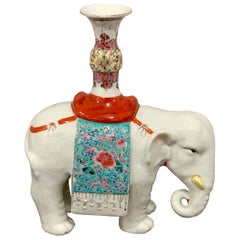 Chinese Export Famille Verte & Blanc de Chine Elephant Joss Stick
