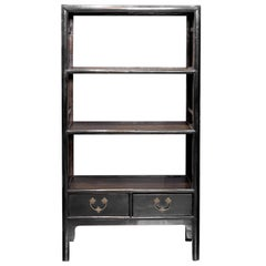 Chinese Export Handmade Étagère Display Bookcase, circa 1910