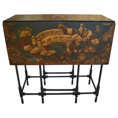 Chinese Export Lacquered Gate Leg Table